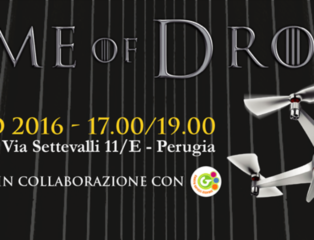 "Multicoopter drone presente all'evento ""Game of Drones"""