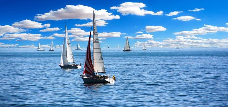 barche a vela durante una regata