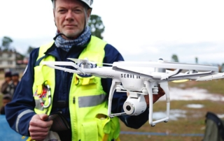 Drone utilizzato nel soccorso in Nepal
